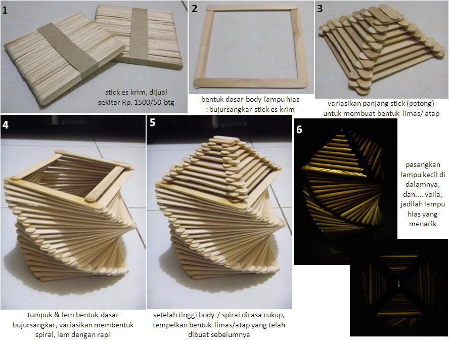 Cara Membuat Lampu Hias Dari Stick Krim